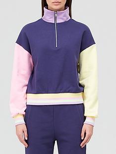 olivia-rubin-cleo-half-zip-sweatshirt-navy