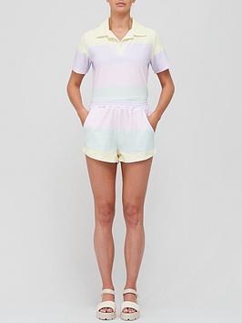 olivia-rubin-portia-towelling-colour-block-shorts-multi