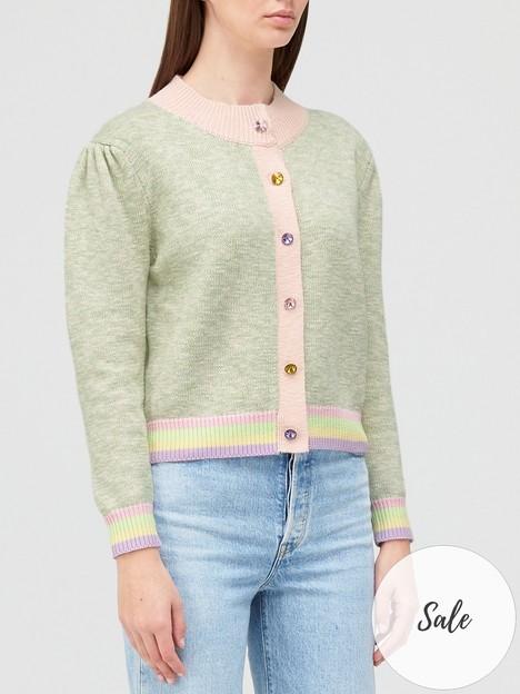 olivia-rubin-dee-button-detail-cardigan-green