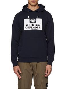weekend-offender-weekend-offender-hm-service-classic-logo-overhead-hoodie-navy