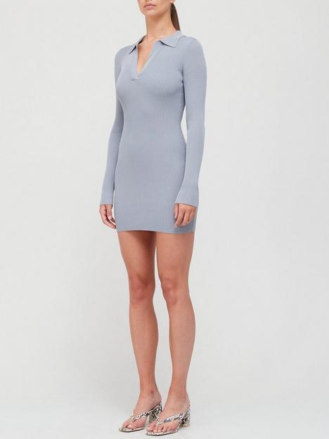 bec-bridge-harper-knit-mini-dress-blue