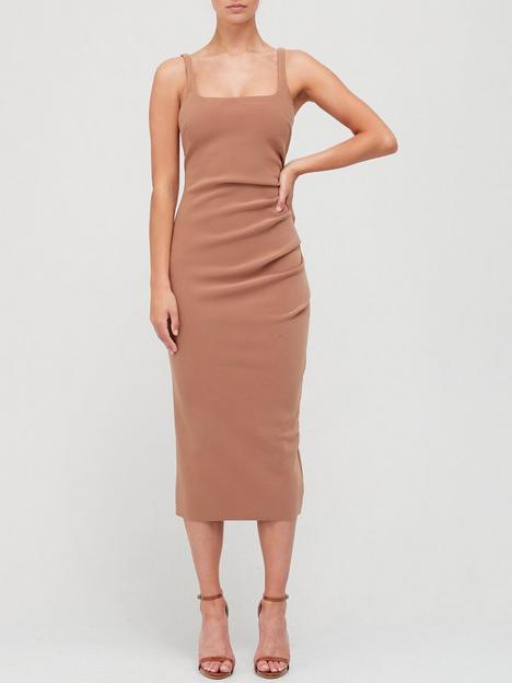 bec-bridge-maddison-tuck-midi-dress-brown