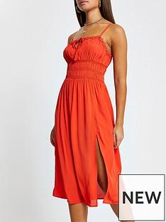 river-island-floral-trim-midi-dress-red