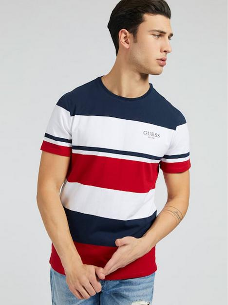 guess-jeans-original-logo-stripe-t-shirt