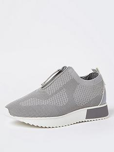 river-island-wide-fit-knitted-runner-grey