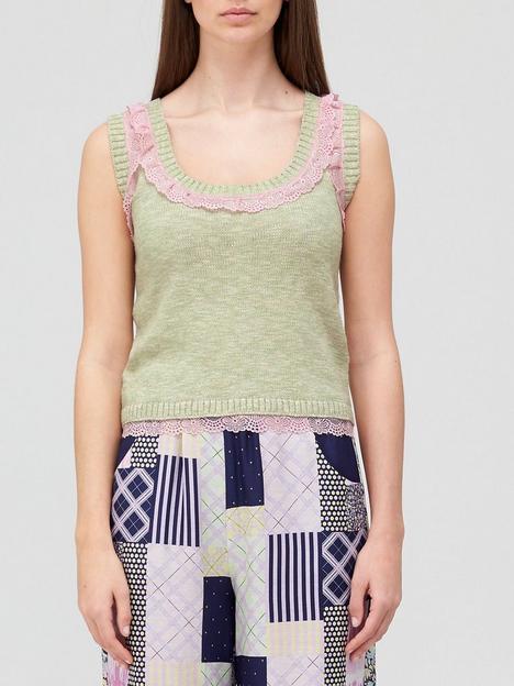 olivia-rubin-reillynbsplace-trim-detail-knitted-vest-green