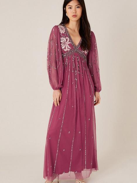 monsoon-regina-embellished-sustainable-dress-pink