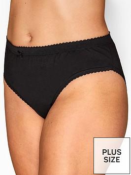 yours-yoursnbsp5pk-hi-leg-briefs-black