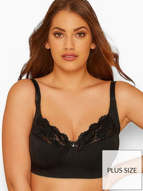 yours-yoursnbspnon-wire-lace-bra-black