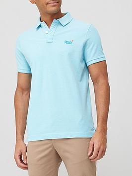 Superdry Classic Pique Short Sleeve Polo Shirt - Spearmint, Spearmint, Size S, Men