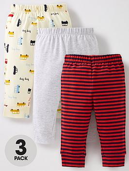 mini-v-by-very-baby-boy-3-pack-transport-bottomsnbsp--multi