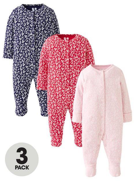 mini-v-by-very-baby-girl-multi-print-sleepsuits-3-pack-light-pinkdark-pinknavynbsp
