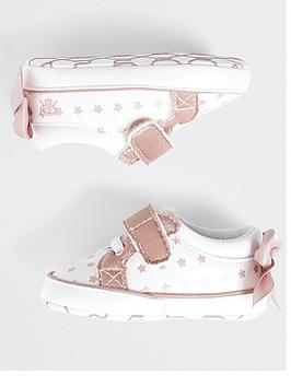 river-island-baby-baby-girls-star-bow-back-trainers--nbspwhite