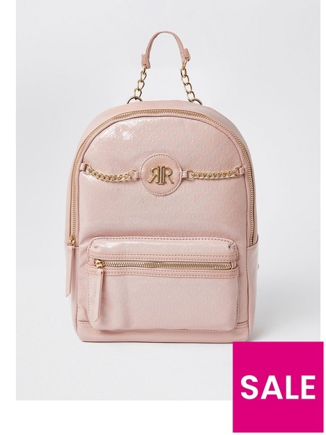 river-island-girls-patent-chain-backpack--nbsppink