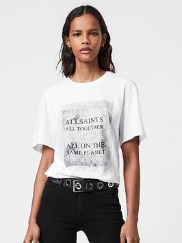 Allsaints Oversized Boyfriend Fit T-Shirt - White