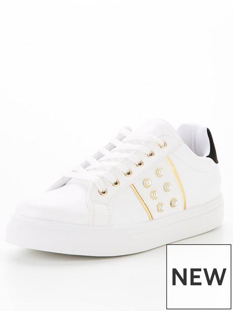 v-by-very-pearl-trim-side-stripe-trainer-white