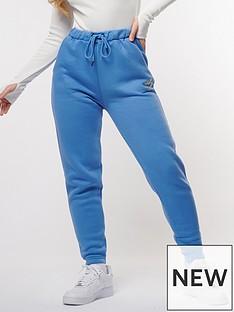 criminal-damage-rhinestone-logo-jogger-blue