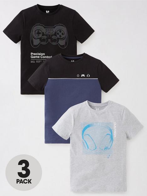 v-by-very-boys-gaming-t-shirts-3-pack-blackblue