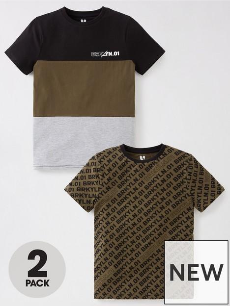 v-by-very-boys-brklyn-t-shirts-2-pack-khaki