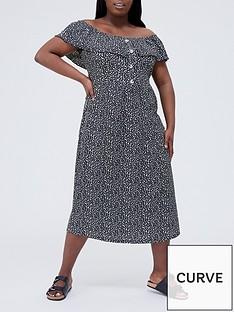 v-by-very-curve-crinkle-bardot-midi-dress-monochrome-animalnbspprint