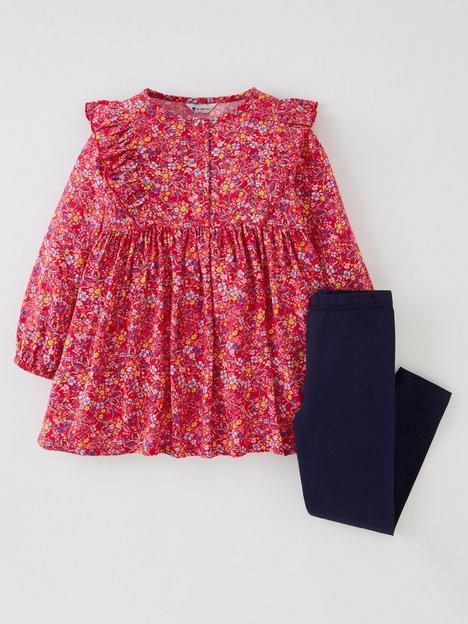 mini-v-by-very-girls-floral-brush-twill-dress-amp-legging-set-multi