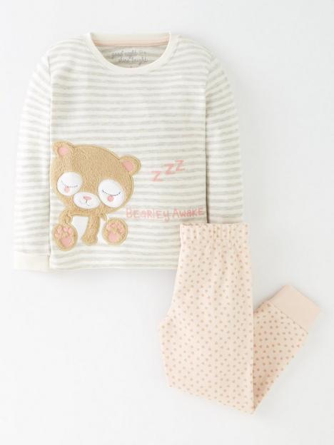 mini-v-by-very-girls-single-bear-long-sleeve-snuggle-fit-pj-set-multi