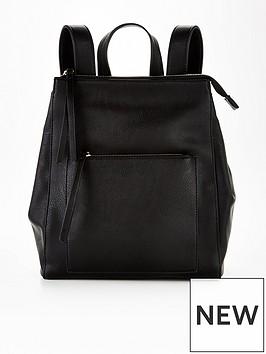 v-by-very-floralnbspzip-topnbspbackpack-black