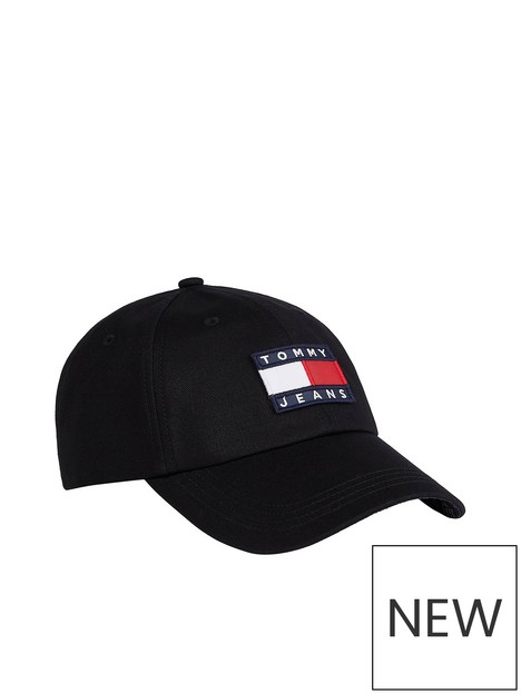 tommy-jeans-heritage-baseball-cap-black