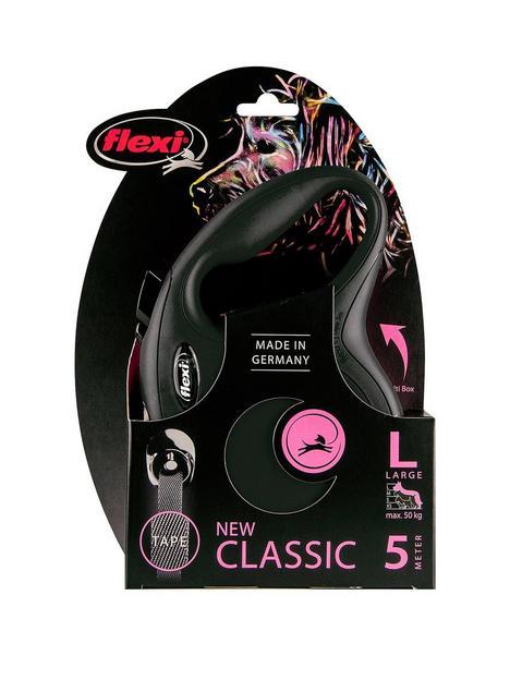 flexi-flexi-classic-black-5m-tape-dog-lead-large