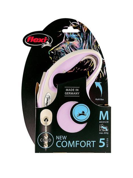 flexi-flexi-new-comfort-rose-5m-cord-dog-lead-medium