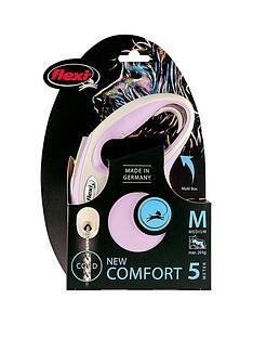 flexi-new-comfort-rose-5m-cord-lead-medium