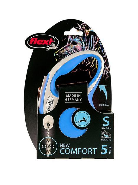 flexi-flexi-new-comfort-blue-5m-cord-dog-lead-small