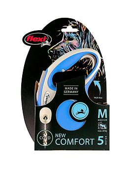 flexi-flexi-new-comfort-blue-5m-cord-dog-lead-medium