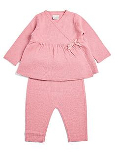mamas-papas-baby-girls-wrap-knit-top-leggings-set-pink