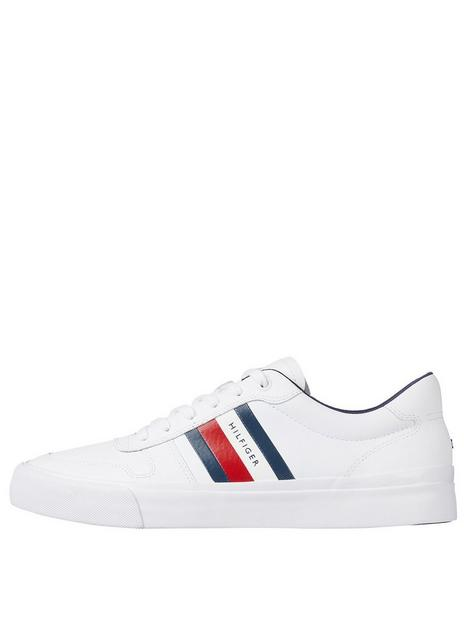 tommy-hilfiger-core-corporate-stripes-trainers-whitenbsp