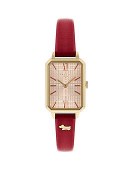 radley-sqaure-dial-red-strap-watch