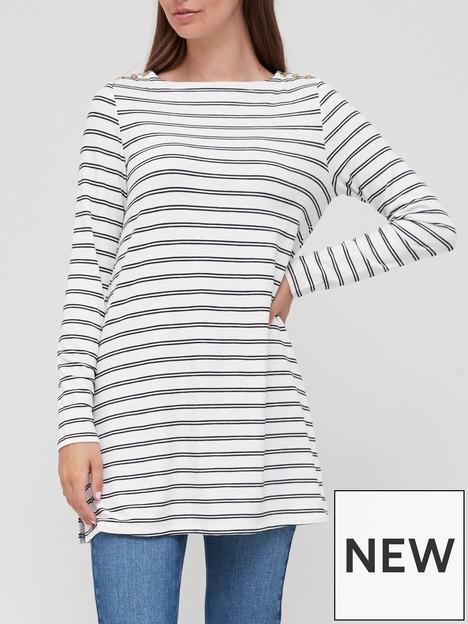 v-by-very-popper-sleeve-tunic-top-stripe