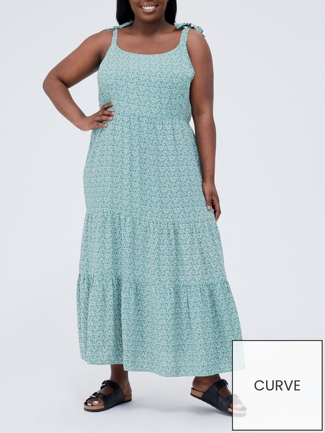 v-by-very-curve-printed-sun-dress-floral-print
