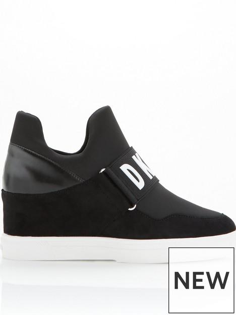 dkny-cosmos-wedgenbspsneaker--nbspblack