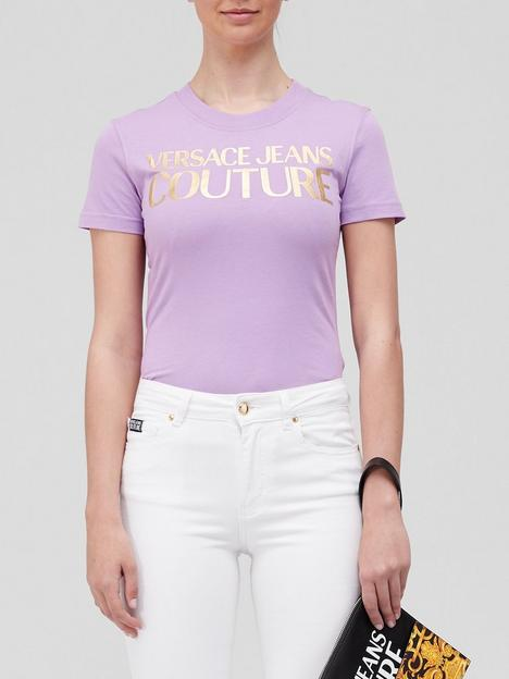 versace-jeans-couture-logo-t-shirt-lilac