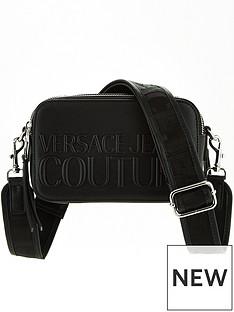 versace-jeans-couture-patent-logo-camera-bag-black