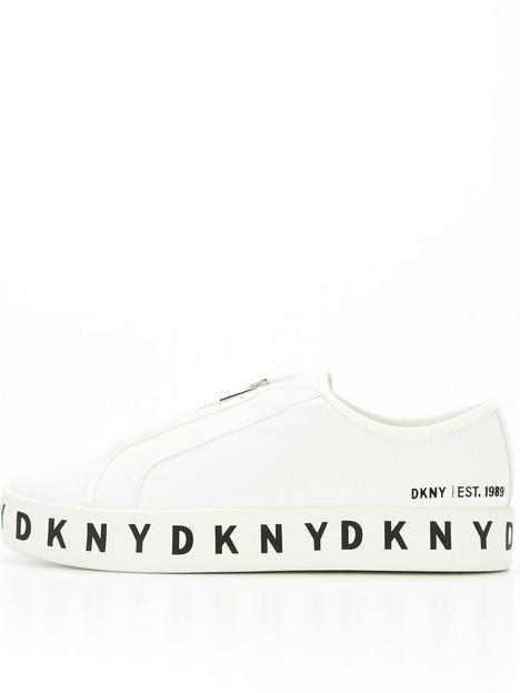 dkny-bella-logo-trainers-white