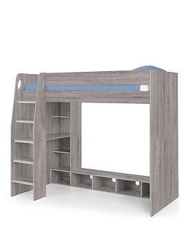 Julian Bowen Blaze Gaming Bed With Desk Grey Oak
