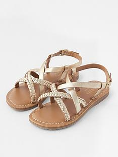 accessorize-girls-leather-plaited-sandals-multi