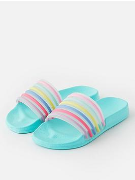 accessorize-girls-stripe-sliders-multi