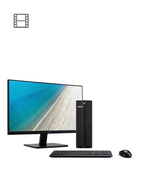 acer-aspire-desktop-xc-830-intelnbspceleron-4gb-ram-1tb-hard-drivenbspbundle-with-238innbspv247y-monitornbspand-optional-microsoft-365-family-15-months