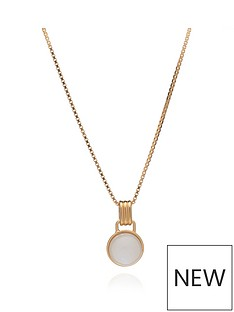 rachel-jackson-london-22ct-gold-plated-sterling-silver-round-mother-of-pearl-cabochon-necklace