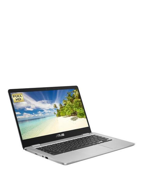 asus-chromebook-c423na-eb0290-laptop-14in-fhd-intel-celeronnbsp4gb-ramnbsp64gb-storage-optional-microsoft-365-family-15nbspmonthsnbsp--silver