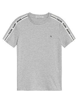 calvin-klein-jeans-boys-intarsia-sleeve-fitted-t-shirt-light-grey-heather