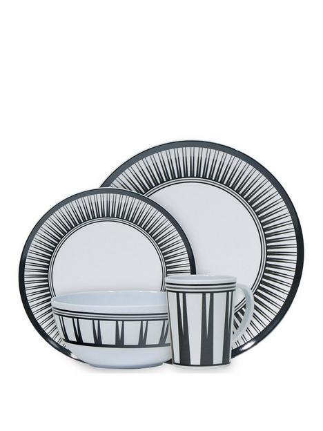 streetwize-accessories-16-piece-melamine-dinnerware-set-stripe
